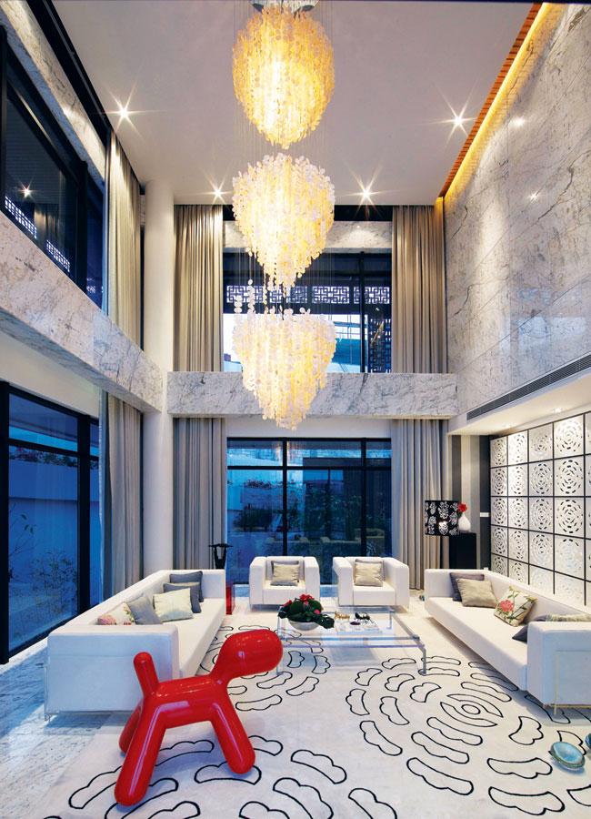 奢华时尚现代别墅室内设计装修案例图