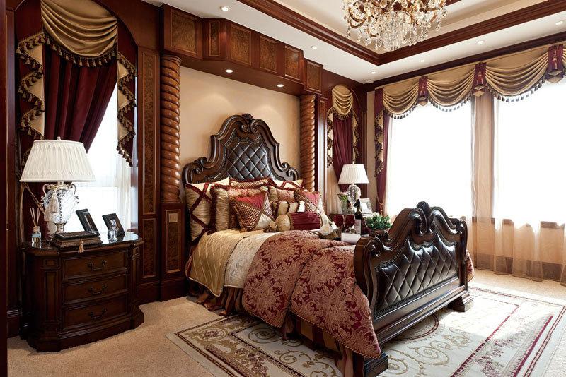 欧式古典风格豪华卧室装修搭配效果图