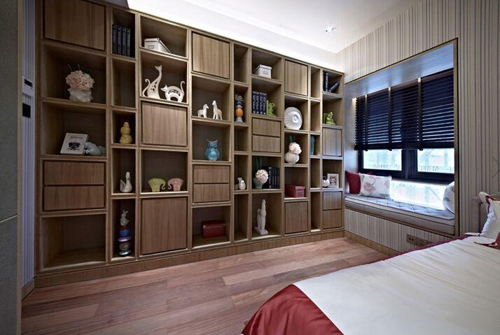 多层中式卧室博古架装修效果图