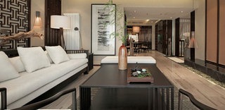 180平儒雅中式风格三室两厅装修欣赏图例
