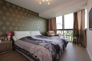 现代新古典卧室背景墙家装效果图