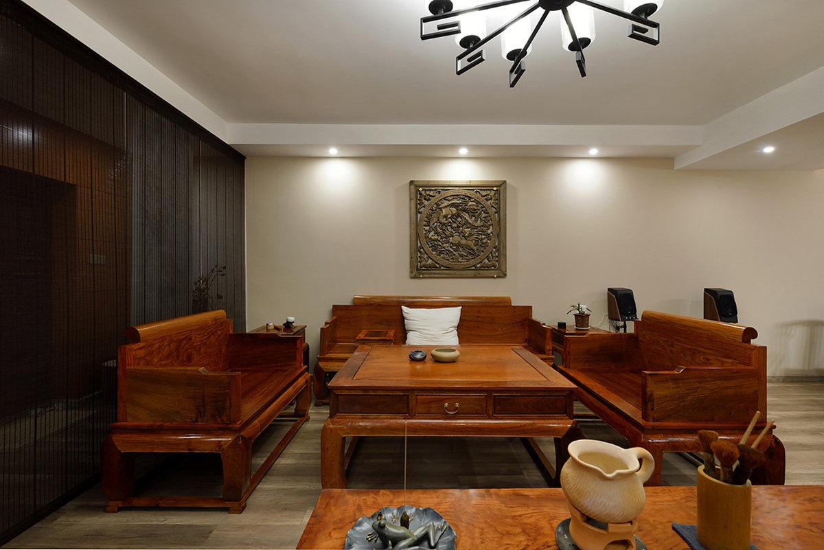 明清中式客厅红木家具效果图