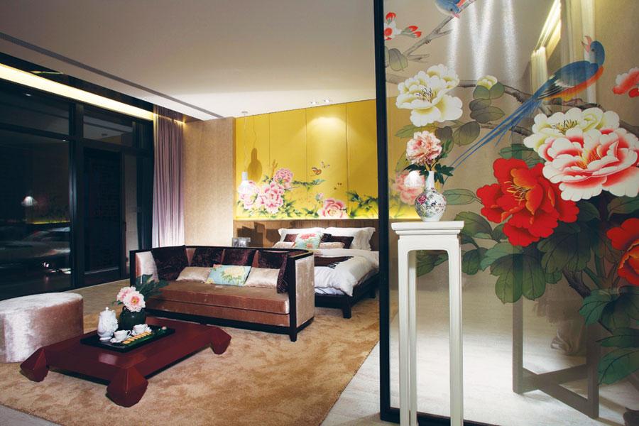 古典中式风格卧室搭配效果图