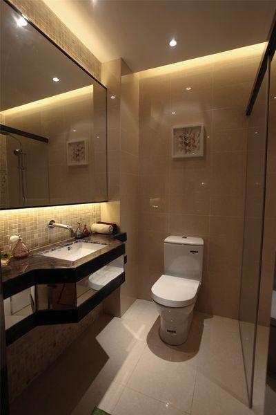 简约时尚设计卫生间效果图