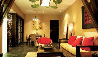 60平简中式风格二居家居装修案例