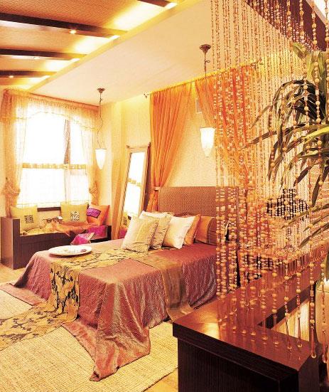 复古时尚设计现代卧室室内设计装潢效果图