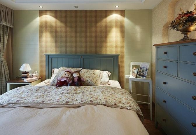 复古乡村美式风格卧室装修效果图欣赏
