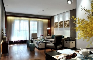 简约时尚现代三居室设计效果图