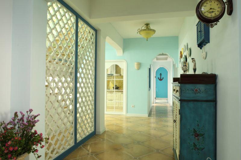 复古美式风格家装设计隔断效果图片