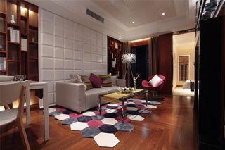 78平个性时尚现代风小户型家装效果图