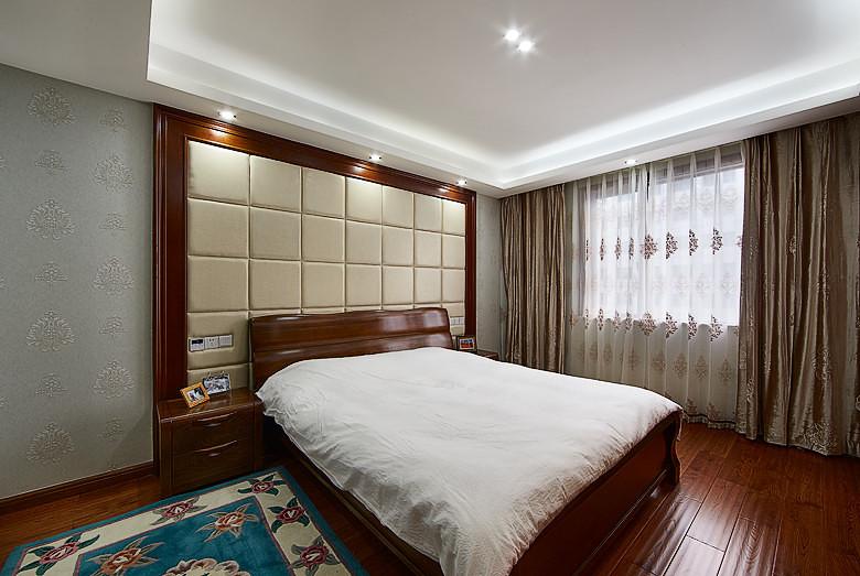 时尚典雅新中式卧室装饰效果图