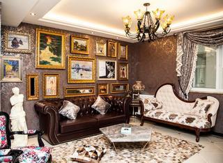 欧式豪华装修设计风格三居室效果图