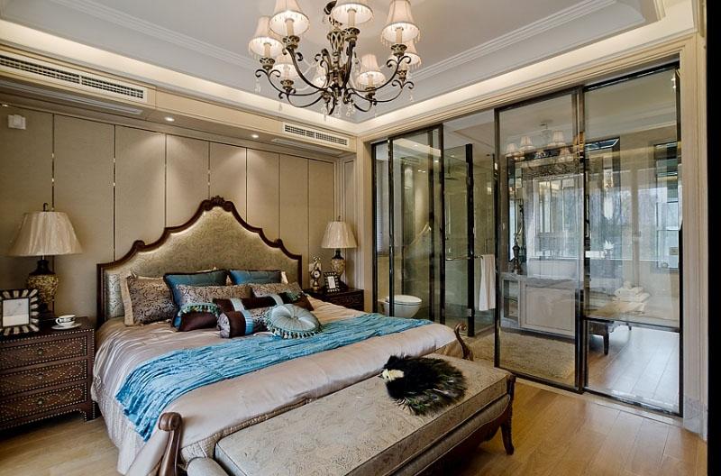 低奢华丽美式风格卧室效果图