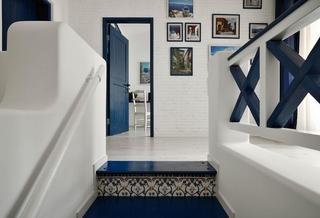 蓝白清凉地中海风格别墅室内设计欣赏图片