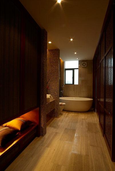 东南亚风格别墅卫生间设计图片