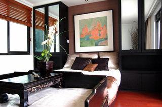 新中式典雅卧室装潢效果图