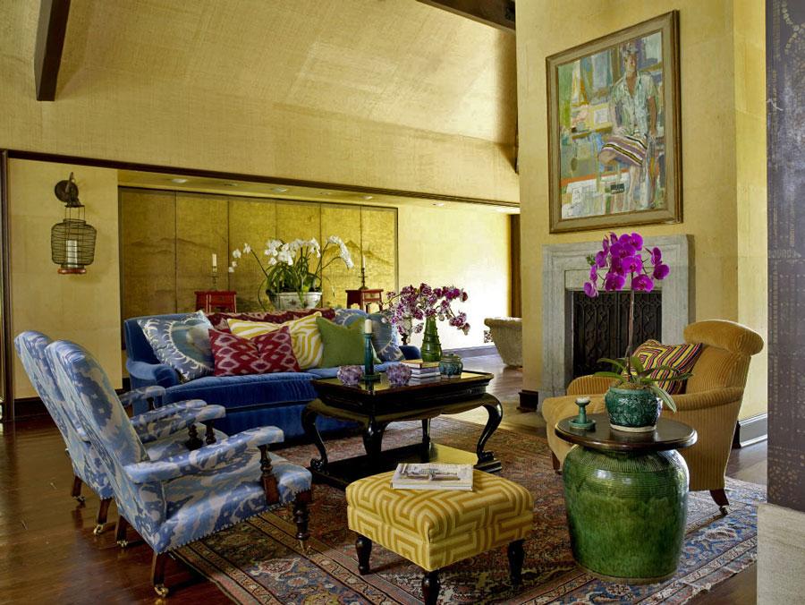 复古美式风格别墅家装客厅设计装潢图片