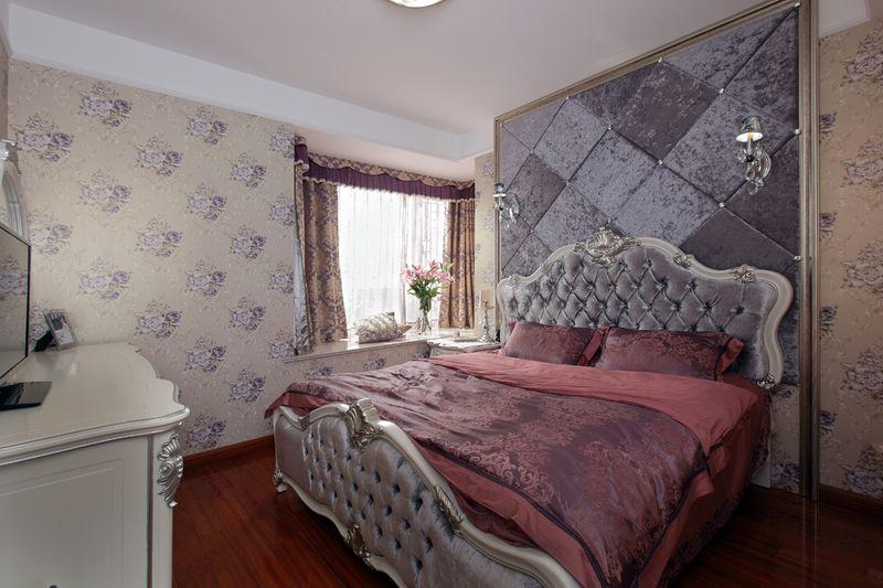 简欧风格室内卧室软装搭配效果图