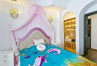 色彩艳丽地中海风格卧室设计装潢效果图