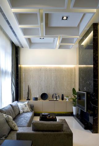现代简约风格个性公寓二居室设计效果图