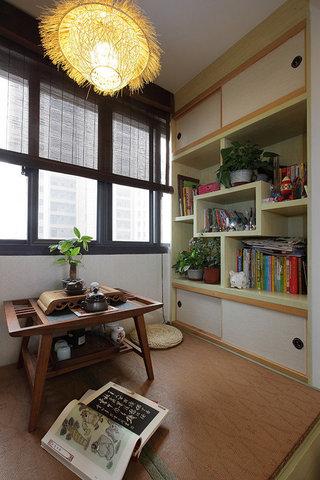 简约中式书房休闲榻榻米效果图