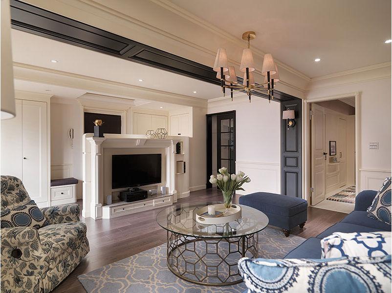 简洁唯美美式客厅电视柜设计装饰效果图