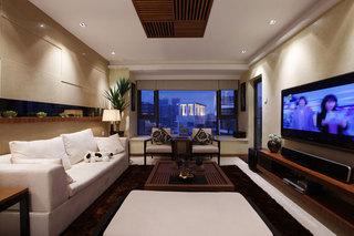 时尚现代简中式客厅背景墙装修图片