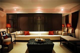 静谧东南亚风格三室两厅设计装潢欣赏图片