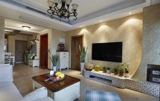 108平美式复古风格混搭三居室装修效果图