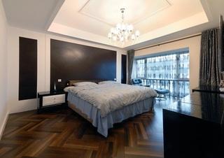 后现代设计风格卧室窗帘隔断效果图