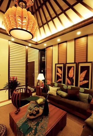 静谧豪华东南亚设计风格别墅装修效果图