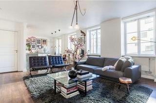 时尚另类北欧风二居室公寓设计图片