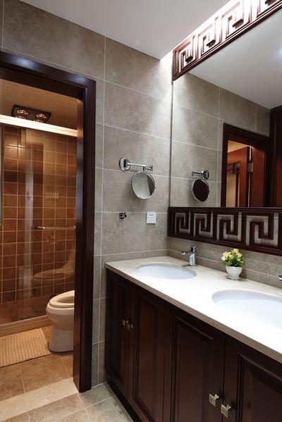 时尚新古典卫生间洗手台室内装修图片