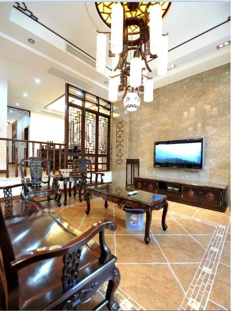 格调雅致中式古典别墅室内装修案例图