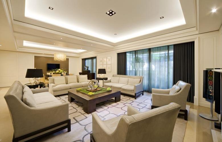 时尚现代优雅客厅室内设计效果图片