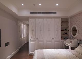 纯净白色田园风格卧室衣柜效果图