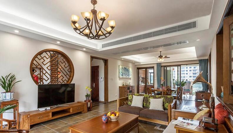 风情万种古典中式风格三居室家装装修效果图