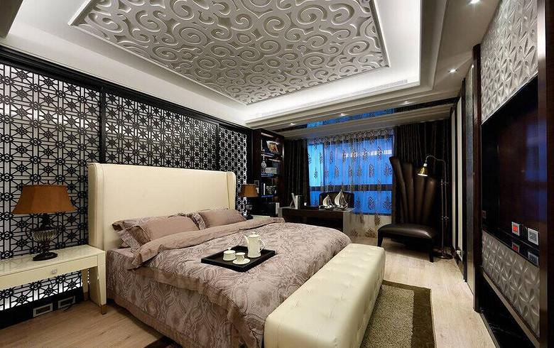 时尚现代欧式风格卧室设计装修效果图