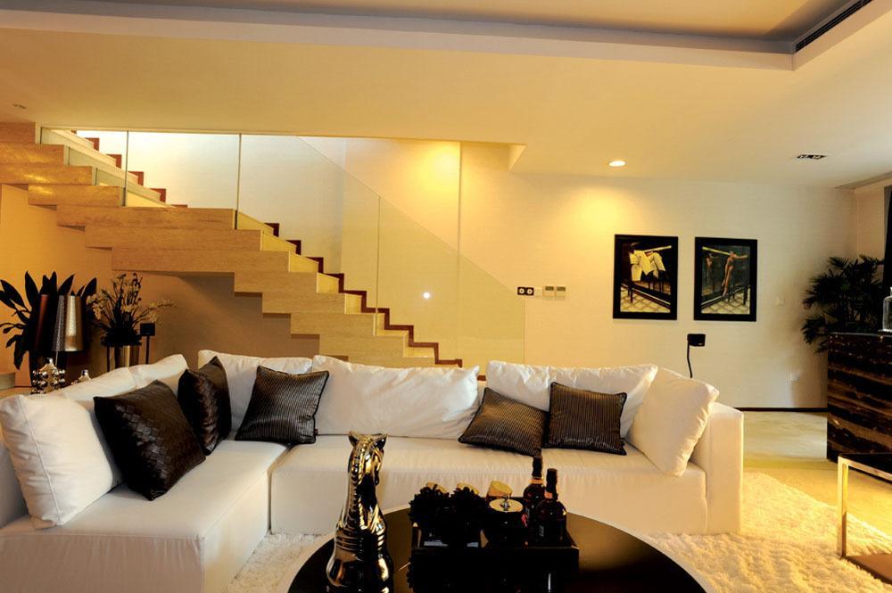 200平风雅黑白色系现代风格复式装潢案例图