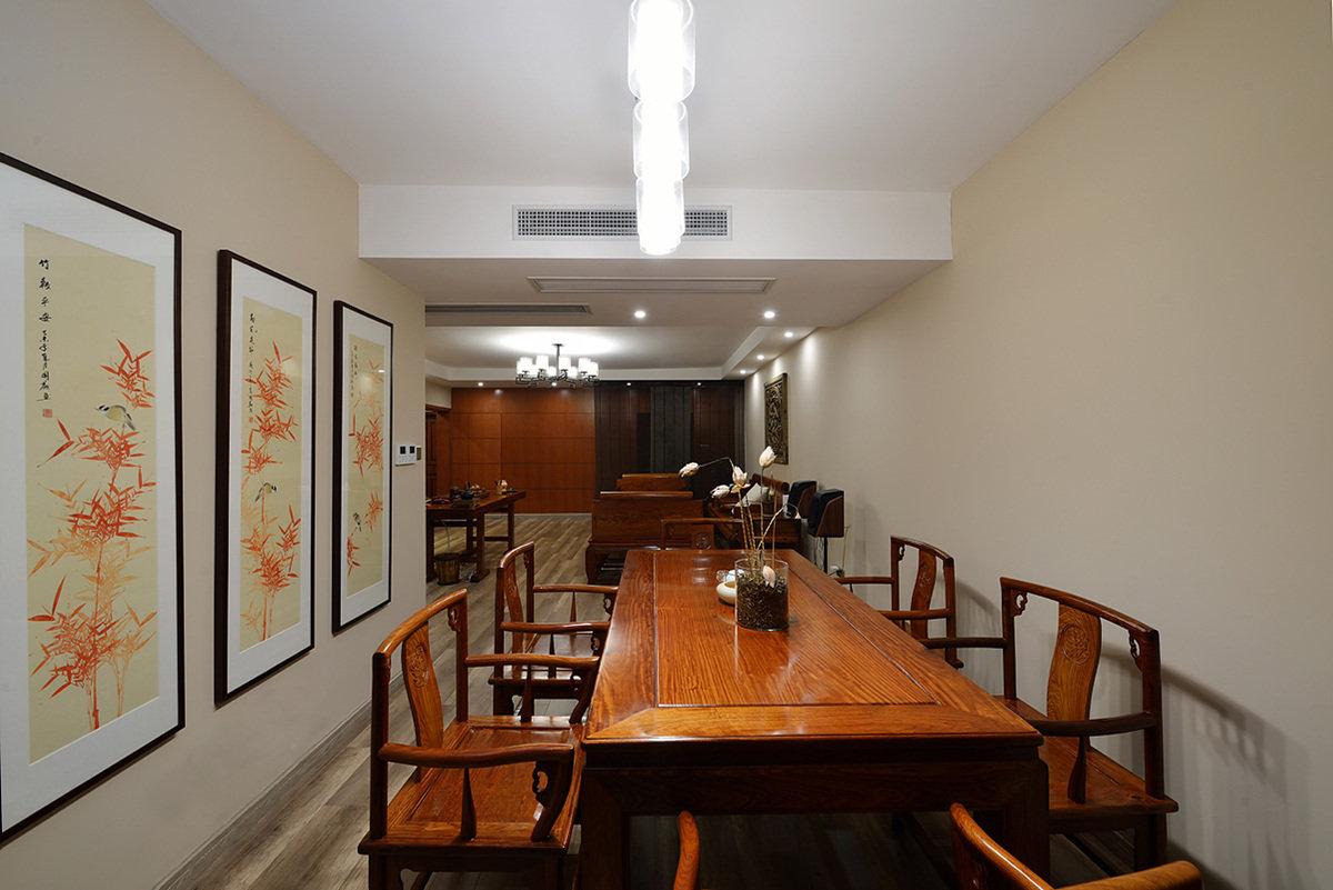 雅致中式餐厅背景墙效果图