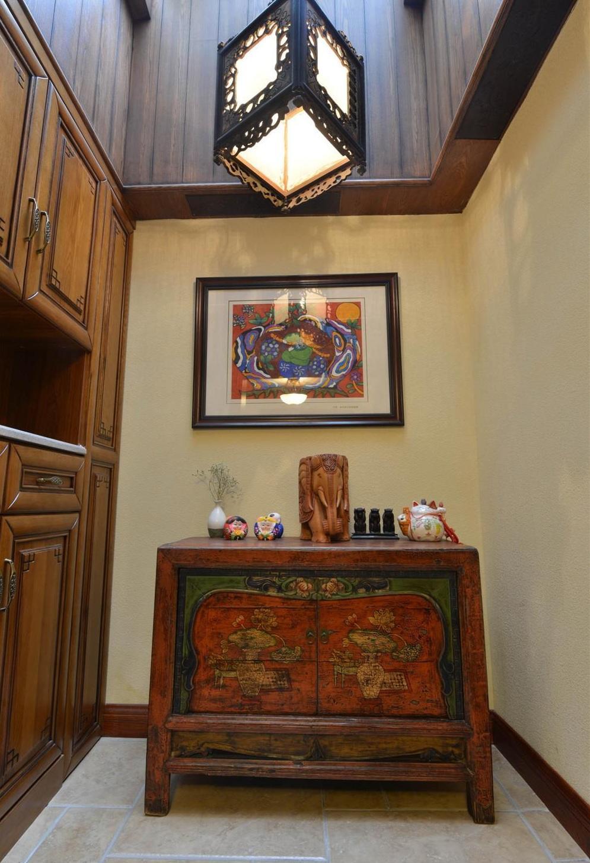 古典精致中式玄关装饰效果图