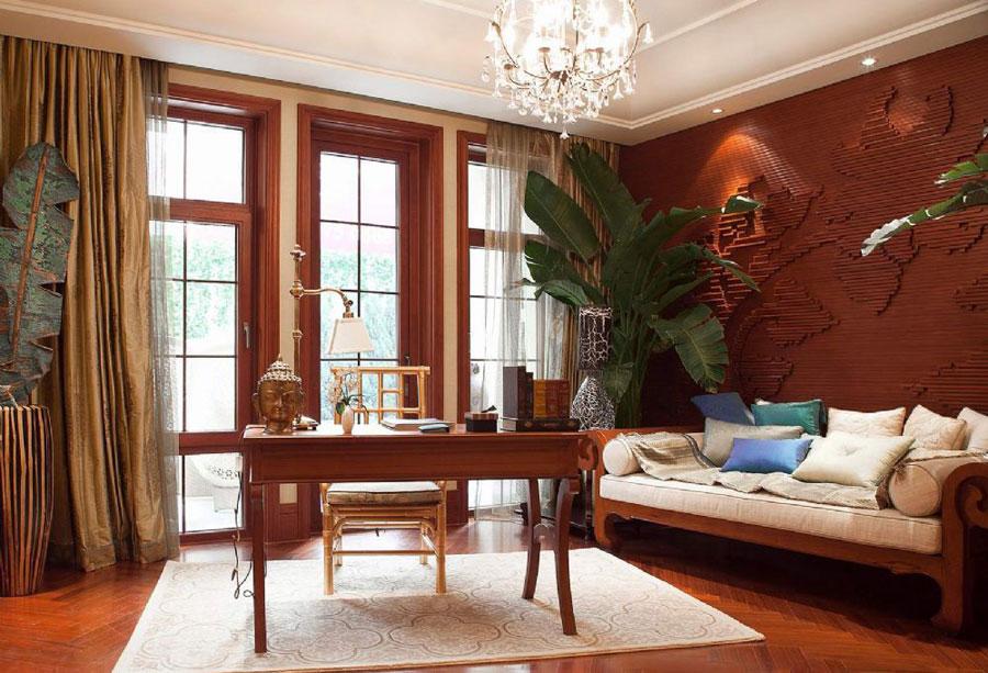 东南亚风格室内书房装修设计图片