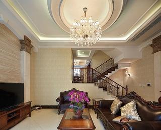 时尚大气古典欧式风格别墅客厅隔断效果图