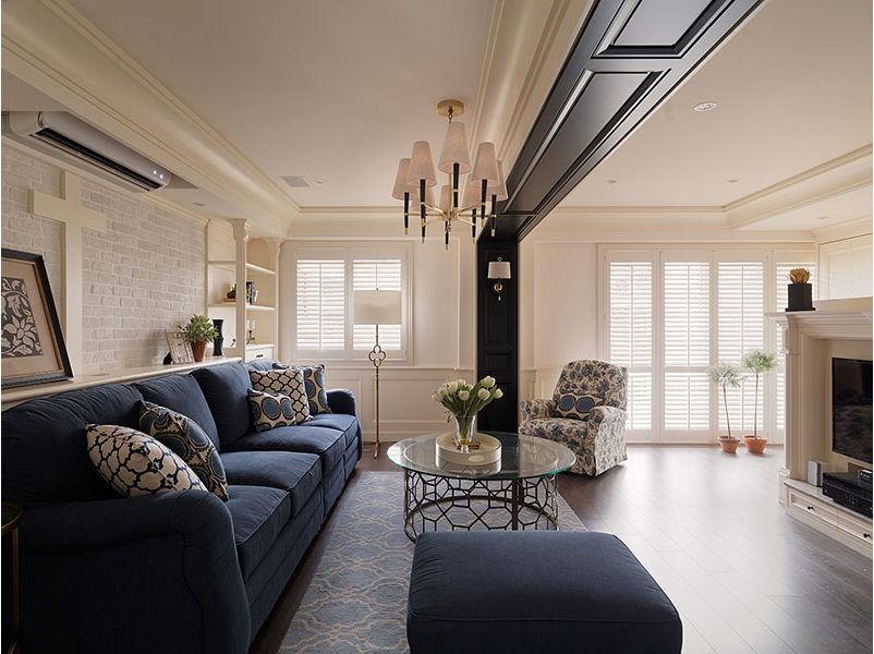 简洁唯美美式风格三居室室内装饰效果图