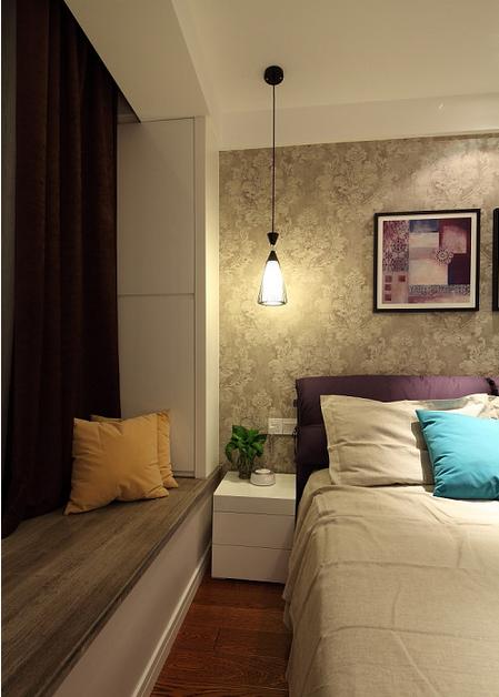 浪漫欧式现代卧室飘窗效果图欣赏