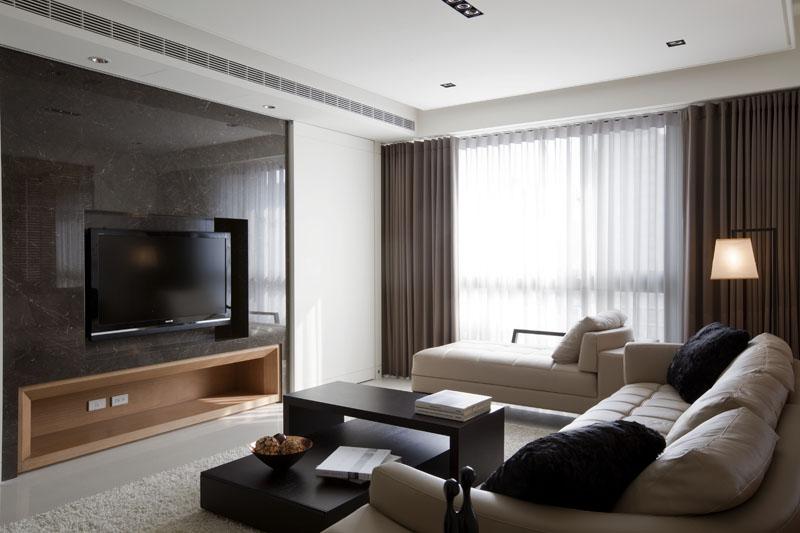 现代摩登风格二居室美图欣赏
