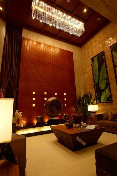 东南亚风格豪华别墅客厅家装效果图片