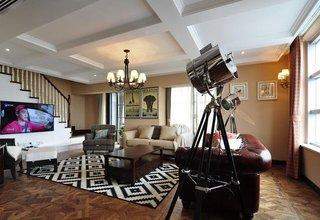 低奢复古美式波普风复式家装设计大全