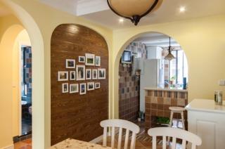 68平小户型北欧复古地中海风格二居室设计效果图片