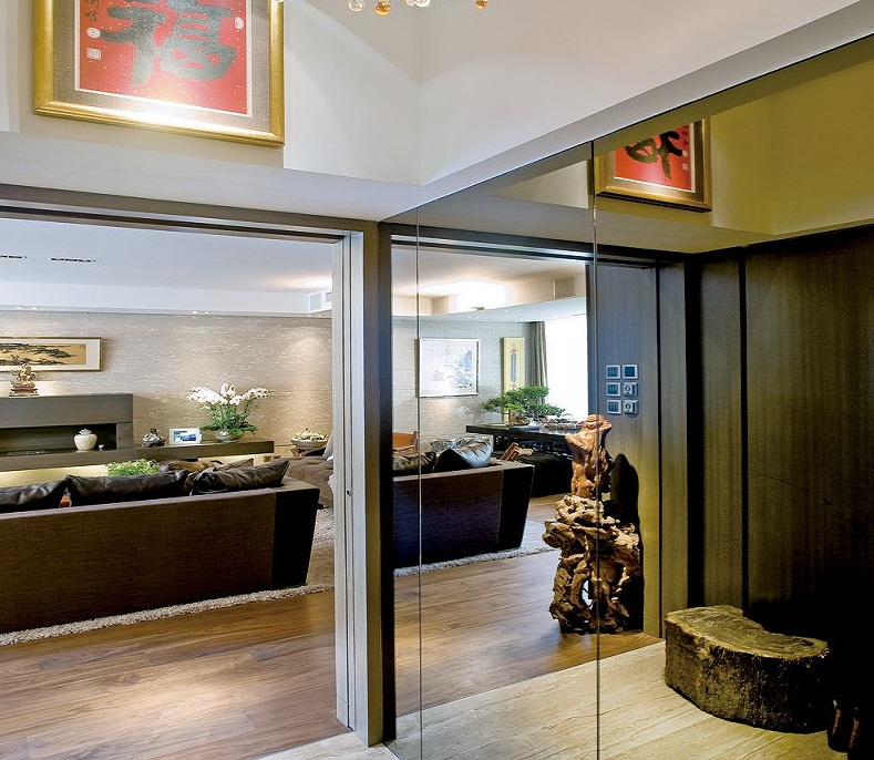 风雅时尚现代设计风格玻璃隔断效果图